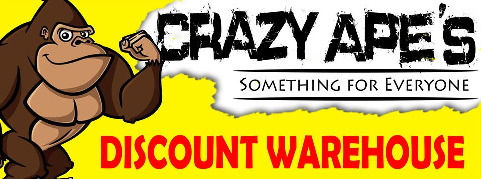 Crazy Apes Discount Warehouse Logo